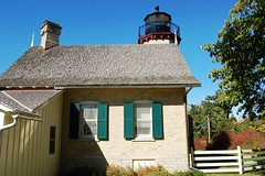 Michigan, Emmet County, McGulpin Point Lighthouse (2,157b) (EC Leatherberry) Tags: lighthouse michigan lakemichigan greatlakes straitsofmackinac 1868 emmetcounty normangothic mcgulpinpointlighthouse liveinlighthouse