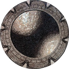 Stragate Customized Mosaic Marble Medallion (Mozaico) Tags: white black mosaic medallion marble
