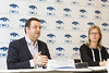 """Arnaud Bouille (Ernst & Young) and Sarah Azau (EWEA)  at the press conference where EWEA launched a new report, """"Where's the money coming from? Financing offshore wind farms""""   <a style=""""font-size:0.8em;"""" href=""""http://www.flickr.com/photos/38174696@N07/10962796443/sizes/o/"""" target=""""_blank"""" class=""""download"""">Download high-res</a>"""