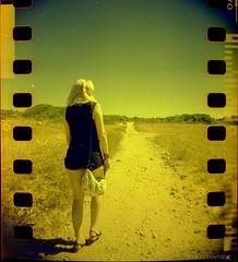 Andrea (Triskaidekafobia) Tags: summer analog 35mm lomography camino path verano menorca 400asa estiu analógico sprockethole camí blackbirdfly analògic