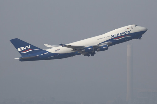 Silk Way Airlines Boeing 747-4R7F (4K-SW888)