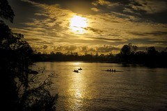 X100S-Early Morning Rowers-2013-12-09 (Photos by Rodney) Tags: sky clouds sunrise fuji australia brisbaneriver rowers x100s vision:sunset=0921 vision:sky=098 vision:ocean=0716 vision:clouds=0972