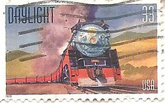 USA daylight train 33 cents (sftrajan) Tags: train technology unitedstates stamps stamp locomotive 20thcentury timbre commemorative postagestamp philately sello usstamps briefmarke  francobollo  historictrain americantrains  daylighttrain