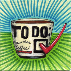 "I drew you a ""To Do:"" list mug off coffee (bortwein75) Tags: food color colour art coffee illustration pen ink fun flickr drink drawing internet humor beverage mug series todo oddities highlighters whiteout markers 2014 postitnote bortwein"