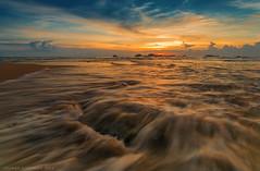 Sunset -2 (彡¯−ـ‗_√ Suliman AL Shubaily√_‗ـ−) Tags: sunset seascape beach canon srilanka 1740mm hikkaduwa 5dmkiii 110nd