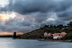Storm Over Swan Brewery (Photos By Dlee) Tags: sun storm macro building water architecture clouds canon landscape telephoto perth kingspark tress westernaustralia swanriver manfrotto 6d sunse swanbrewery canon6d canonef100mmf28lis photosbydlee photosbydlee13