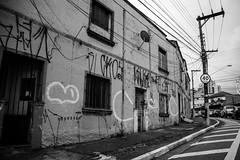 Streets of So Paulo #6 (Claudio Beck) Tags: street city brazil blackandwhite bw brasil corner grafitti beck decay sopaulo sony sidewalk santana paulo claudio so ilce3000