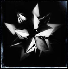 Revealing from the shadows.. (Andrey Hechuev |  ) Tags: blackandwhite bw blanco ball paper origami noir edited negro sphere papel papier bianco blanc nero paperfolding papiroflexia bianconero papercra