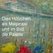 B 11.1 Besen-Malerei: Painting with wood-brush - Malweise mit Holzpinsel