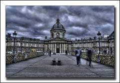 Ghosts of Paris (markstewart40) Tags: bridge paris france seine river movement des pont locks ghosts artes padlocks