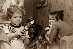 Birthday present... (Dmitry Stebnev) Tags: birthday boy love canon children mom eos parents kid gun tears dad child crying dream desire cap laughter admiration 650d