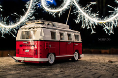 63/365 Lego and sparklers at 22 (NeilllP) Tags: bus classic vw lego can screen sparklers split camper dub