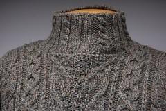 Turtleneck cabled aranstyle jumper (Mytwist) Tags: wool fetish ebay turtleneck tneck rollneck rollkragen highneck rollerneck weso0119