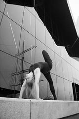 DSC_3256 (stefanko31) Tags: blackandwhite bw nikon body gymnastics acrobatics acrobat nikkor leotard flexible gymnasts glasogw d7100 riversidemuseum nikond7100