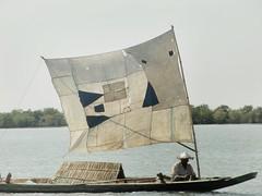 boat on the Kaladan river Myanmar (kingreinhardt) Tags: river boat myanmar kaladan