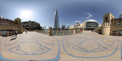 Dubai Mall und Burj Khalifa Panorama