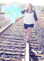(179/365) (Stephanie R Jeter) Tags: balloons traintracks blueballoons project365