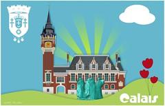 Ville de Calais - Illustration vectorielle - picto (teddylambec) Tags: de hotel image dessin png jpg psd vector ai ville calais mairie fond postale nord carte blason eps pasdecalais pictogramme decran