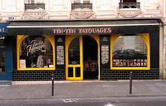 Paris - 2015 (Hanoi1933) Tags: france tattoo magasin boutique storefront vitrine parigi tatouage devanture 2015   parisstreetart  pariswallart