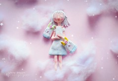 White dream. (Amynyan) Tags: pink cloud cute girl handmade dream clay lovely breakable