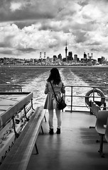 Leaving (Carolbreeze99) Tags: street travel newzealand people bw loss ferry boats leaving sadness transport nostalgia l departure waiheke aukland homesickness matchpointwinner mpt447