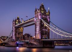 Tower Bridge (mark.iommi) Tags: yellow towerbridge london riverthames bluehour dusk citylights cityscape