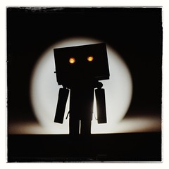 The Devil has arrived (slo.Metallc) Tags: toys toy danbo danboard dark backlit studio sonyilca77m2 tamronspaf90mmf28di manfrottopixievo