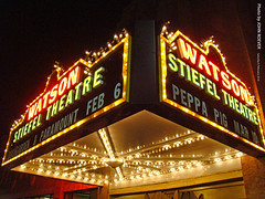 Stiefel Theatre at night, 6 Feb 2016 (photography.by.ROEVER) Tags: salina kansas usa 2016 february roadtrip february2016 stiefeltheatre stiefeltheatref stiefeltheatrefortheperformingarts watsontheatre watsontheater