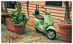 Nostalgia Fotografica (Photography Nostalgic) (SamyColor) Tags: contaxll1937 contax sonnar5cmf20 agfacolorplus200 color colori colorido colores colors colours erde green motora motorcycle fotografianostalgica nostalgicphotography