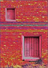 (Cliff Michaels) Tags: panasonic photoshop pse9 prisma walo bricks windowa ashville