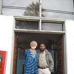 Professor Al Kagan visits the Arusha Declaration Museum in Tanzania