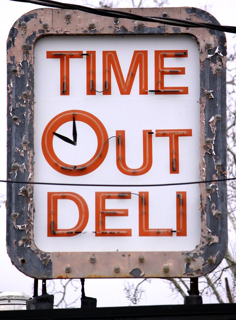 Time Out Deli neon sign - Oak Ridge, TN