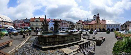 Sobotka - náměstí (Marktplatz zu Sobotka)