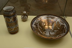 0148-20161012_Malaga-Spain-Alcazaba-vase, jug and bowl displayed in small museum (Nick Kaye) Tags: malaga andalucia spain europe fort castle musem