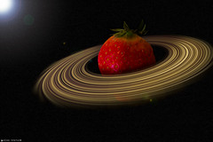 The Red Planet (Alan Travers) Tags: ireland red macro galway composite fruit photoshop canon strawberry space humour adobe planet astronomy compositing extensiontubes canonef50mmf18ii cs6 project365 365project macrodreams canon550d