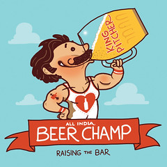 all india beer champ (sir manish) Tags: india beer illustration champion