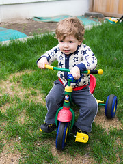 Gangster buddy (Out of Focus [sic]) Tags: grass outside toddler tricycle nanowes