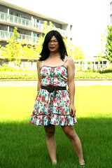 Spaghetti Straps (tgirl-katie) Tags: park summer home asian tv dress outdoor cd chinese tgirl transgender casual transexual transgendered crossdresser ts tg transsexual ladyboy  m2f    newhalf