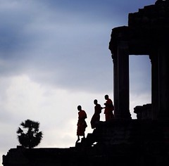 Day's End (John Javellana) Tags: travel canon cambodia angkorwat monks siemreap seamreap 1dx canonef85mm12l eos1dx uploaded:by=flickrmobile flickriosapp:filter=nofilter