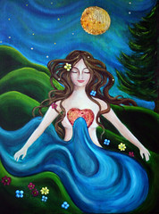 From Her Oceanic Heart (celeste_johnston) Tags: wild woman art painting acrylic goddess fantasy sacredfeminine