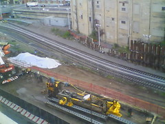Record by Always E-mail, 2013-06-19 05:34:58 (atlanticyardswebcam) Tags: newyork brooklyn webcam prospectheights atlanticyards vanderbiltrailyard 696716atlanticavenue 718728atlanticavenue block1120
