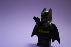 Black, or Really Really Really Dark Grey (Joyous Exuberant) Tags: colour comics toys dc lego batman minifig minifigs superheroes minifigure capedcrusader minifigures