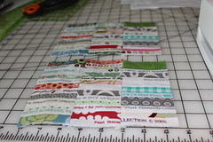 Selvage tutorial pic 13 (B's Modern Quilting) Tags: quilt machine fabric zipper tutorial wristlet selvage