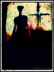 October 2000 (Vanessa Nadia Moylan) Tags: silhouette photomanipulation photography scary blood gothic goth creepy spooky darkphotography darkart darkimages bloodsplatter darkimagery
