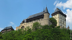 Czech-Karlstejn_20120617-143224_RomaN_IMG_12738_panorama_w1920 (RomaN Imagetravel.ru) Tags: old city blue summer sky panorama sun sunlight building tower castle history stone architecture clouds town ancient europe day republic czech outdoor traditional famous gothic culture landmark panoramic medieval historic east most czechrepublic cz bohemia karlstejn republika karltejn