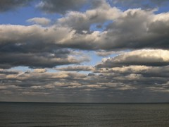 We'll meet again some sunny day (Lake Michigan) (rwchicago) Tags: lake chicago water clouds day cloudy lakemichigan hopperesque