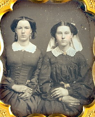 """1/6th Daguerreotype """"Sisters"""" Closeup (Mirror Image Gallery) Tags:"""