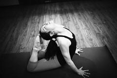 Samadhi Yoga (HIKARU Pan) Tags: light portrait bw woman girl yoga photography blackwhite asia shanghai chinese indoors youngwoman china1 35l canonef35mmf14lusm 5d2