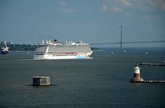 NJ Departure -04 (KathyCat102) Tags: cruise celebrity newjersey ship nj bermuda gps geotag breakaway ncl verrazanonarrows capeliberty celebritysummit sonygpscs3ka