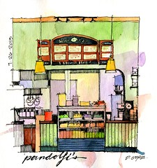 pandolfi's (Don Gore (dgdraws)) Tags: watercolor sketch sketchbook kansascity missouri deli dongore stillmanbirn pandolfis